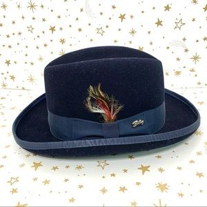 Bailey of Hollywood | Godfather Navy Wool Felt Hat
